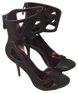 ShoeDazzle Black Platforms