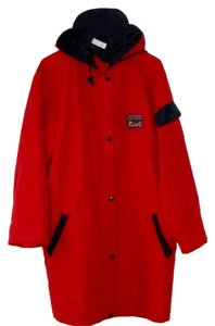 L-kama Hood Washable Red with Navy Blue trim Jacket