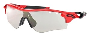 Oakley Wrap OO9181-09 Oakley Red Unisex Sunglasses