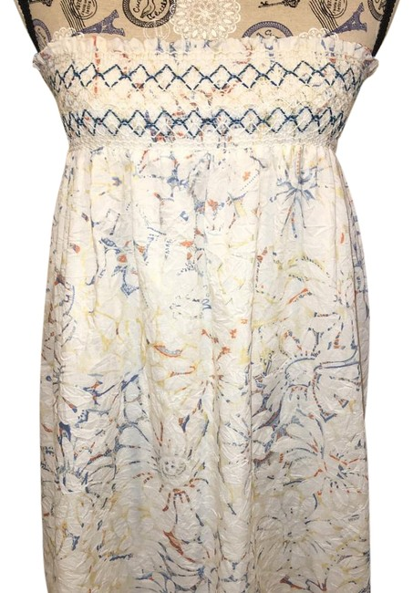 Item - White Multi Skirt/Top/ Above Knee Short Casual Dress Size 2 (XS)