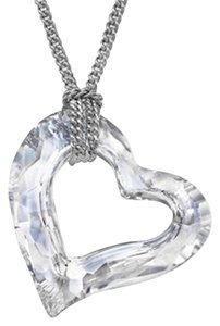 Swarovski Swarovski Crystal Loverheart Rhodium/Clean crystal Pendant/Necklace-5187361-P