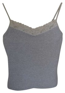 Victoria's Secret Built In Bra Top Light grey