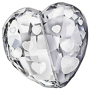 Swarovski Crystal Figurine Love Heart Medium Crystal Silver Shade #5069538 New Msrp $100