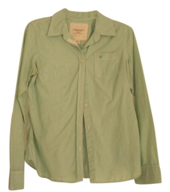 American Eagle Outfitters Button Down Shirt Green