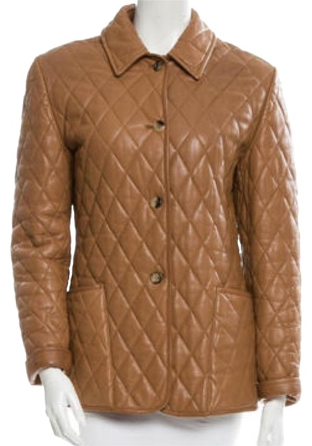 Burberry Brown/ Tan/ Beige London Quilted Jacket Size 8 (M) Burberry Brown/ Tan/ Beige London Quilted Jacket Size 8 (M) Image 1