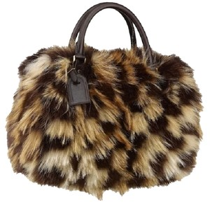 Louis Vuitton Fox Fur Satchel in brown
