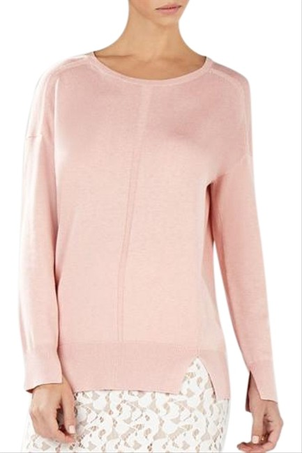 Preload https://item5.tradesy.com/images/bcbgmaxazria-pink-cable-knit-detailing-bcbg-sweatshirthoodie-size-8-m-15207244-0-1.jpg?width=400&height=650