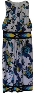 Maggy London short dress Blue/yellow/black/white on Tradesy