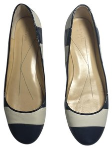 Kate Spade Nautical Blue And White Ballet Size 10 Striped Navy/Cream Flats