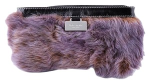 Kate Spade Rabbit Fur Wristlet in Brown
