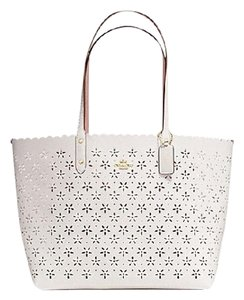 Coach Tote in Chalk Glitter/White