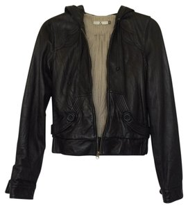 Mike & Chris Leather Hoodie Leather Jacket