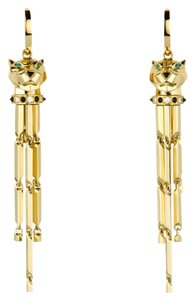 Cartier Cartier 18K Yellow Gold Diamond Tsavorite Garnet Onyx Earrings