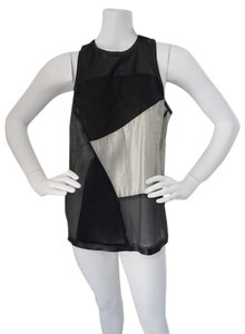 Helmut Lang New With Tags Size Large Top Black & Silver