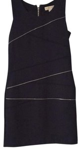 MICHAEL Michael Kors short dress Deep navy with silver zipper accents on Tradesy