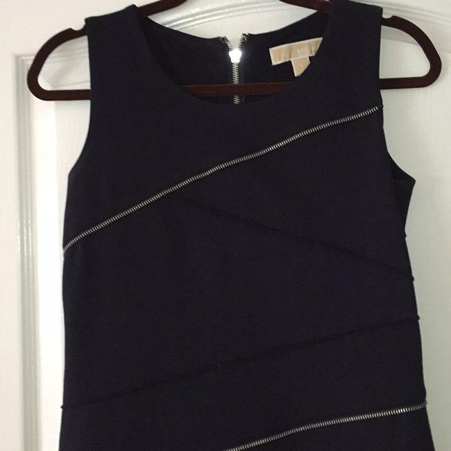 MICHAEL Michael Kors short dress Deep navy with silver zipper accents on Tradesy Image 5