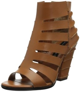 Steven by Steve Madden Bootie Sandal Leather Tan Brown Sandals