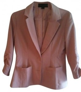 Forever 21 Two Button Quarter Sleeve Peach Blazer