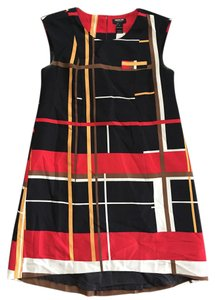 Macy's short dress Black, yellow, red and white on Tradesy