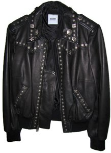 Moschino black Leather Jacket