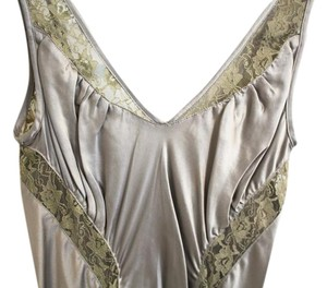 Catherine Malandrino Form-fitting Silver Slip Lingerie Dress