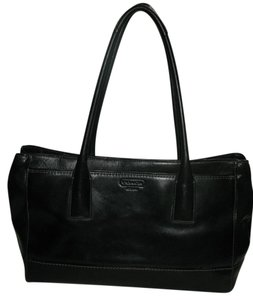 Coach Large Large Leather Leather Luggage Shopping Tote in Black