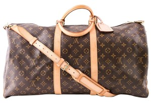 Louis Vuitton Keepall 55 Brown Travel Bag
