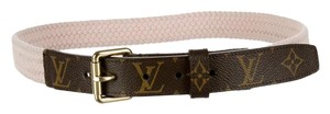 Louis Vuitton Brown tan LV monogram leather Louis Vuitton belt New M Medium
