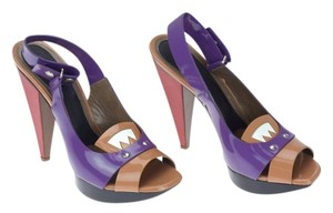 Marni Multicolor Red Tan Purple Platforms