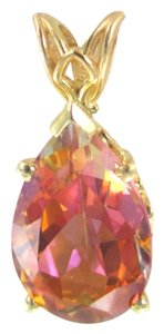 Other 14KT SOLID YELLOW GOLD PENDANT TOPAZ MYSTIC BIRTHSTONE GOOD LUCK WISDOM HEALTH