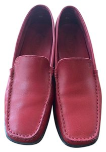 Tod's red all leather Flats