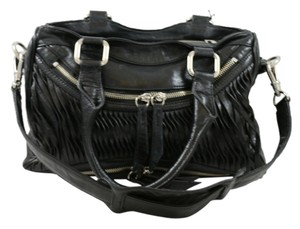Treesje Leather Convertable Satchel in Black