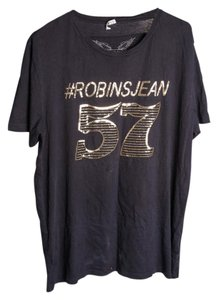 Robin's Jean Gold 57 T T Shirt Black