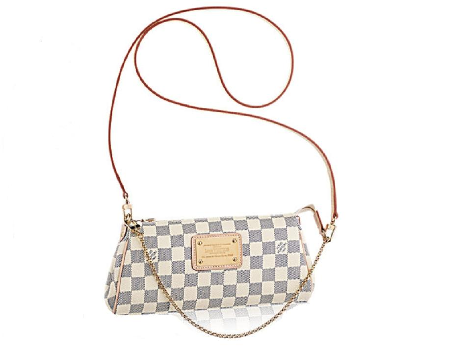 d62a4872f2c44 Louis Vuitton Crossbody Clutch Eva Made In France Damier Azur Canvas ...