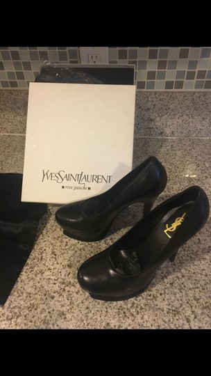Saint Laurent Ysl Tribtoo Yves Heels Black Pumps Image 1