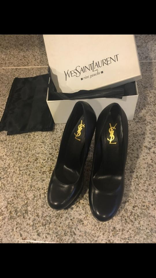 Ysl Saint Yves Tribtoo Pumps Laurent Black 1qnqwUT
