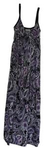 Purple, black and white Maxi Dress by bailey blue