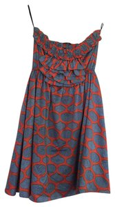 Judith March short dress Blue and orange on Tradesy