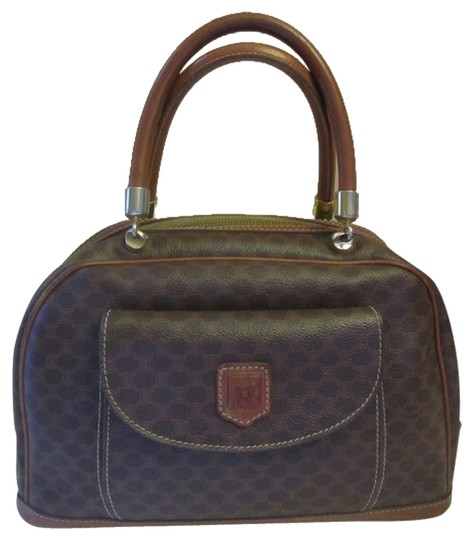 Preload https://item2.tradesy.com/images/celine-boston-macadam-brown-canvas-and-leather-satchel-1521091-0-0.jpg?width=440&height=440