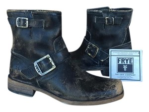 Frye Smith Engineer Sz 7 New In Box Stone Wash Boots