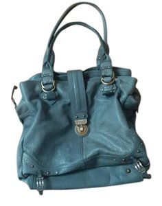 Hayden-Harnett Leather Genuine Leather Tote in blue-grey