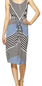 BCBGMAXAZRIA short dress Blue white striped on Tradesy