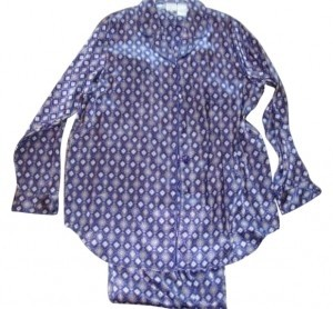 Other Silky Purple Print pajamas Med