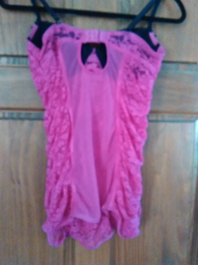 Body Rage Sexy Hot Pink and Black Teddy Lingerie Babydoll Image 2