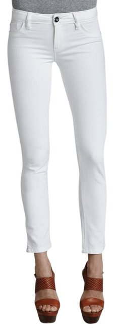 Item - White Milk Light Wash Angel Mid Rise Ankle In Skinny Jeans Size 28 (4, S)