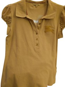 Burberry Polo Knit Size Large T Shirt Khaki