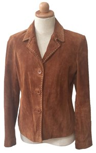 Brandon Thomas Suede Soft Western Contrast Brown Leather Jacket