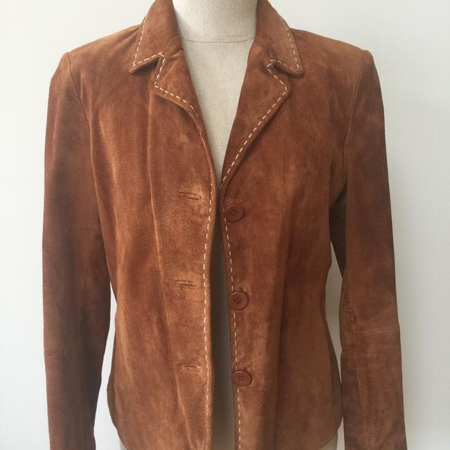 Brandon Thomas Suede Soft Western Contrast Brown Leather Jacket Image 1