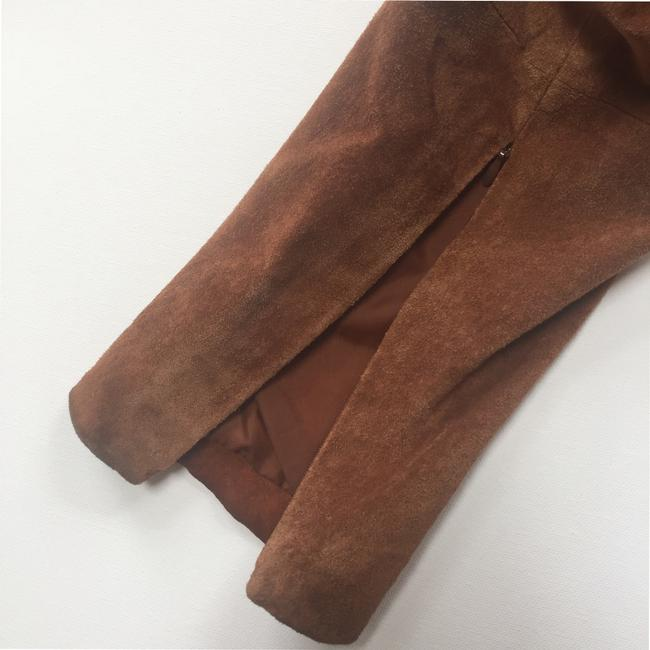 Brandon Thomas Suede Soft Western Contrast Brown Leather Jacket Image 10
