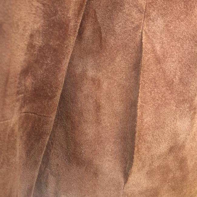 Brandon Thomas Suede Soft Western Contrast Brown Leather Jacket Image 11